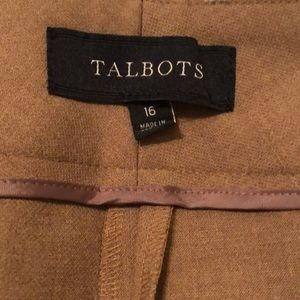 Talbots Heavy weight trouser or suit pants size 16